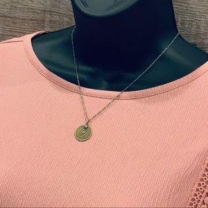 "Vintage ""C"" necklace 16"" length"